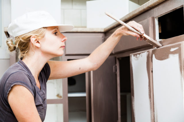 Update your kitchen by painting the cabinets