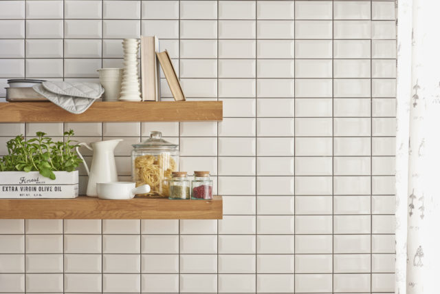 Update your kitchen by installing opening shelving