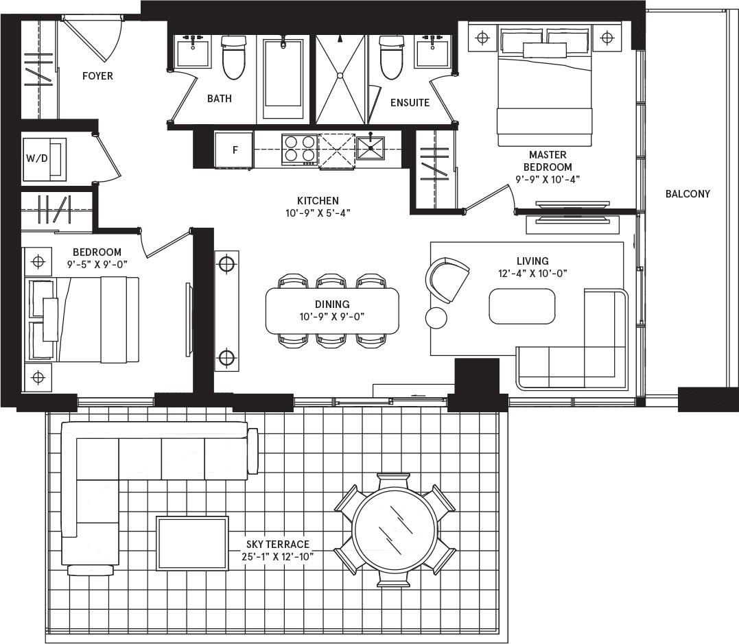 Munich Sky Terrace Floorplan 1