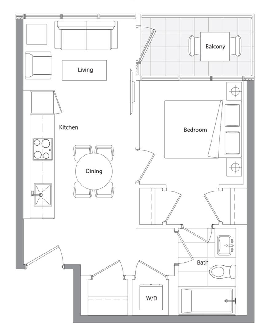 Lower Typical (East Tower) 15 Floorplan 1