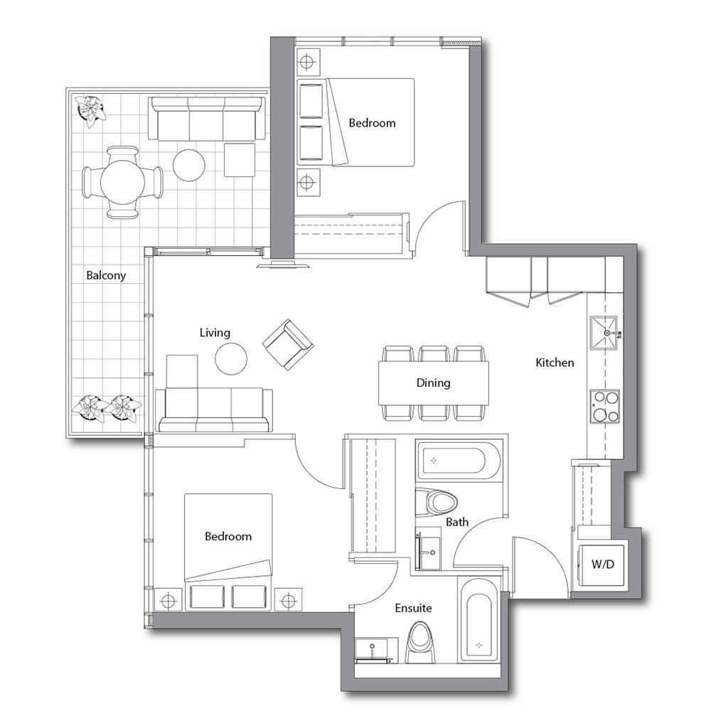 East Tower 09 Floorplan 1
