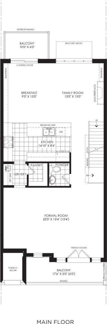 BLOCK 14, ELEV. B1 REV, UNIT 4 Floorplan 2
