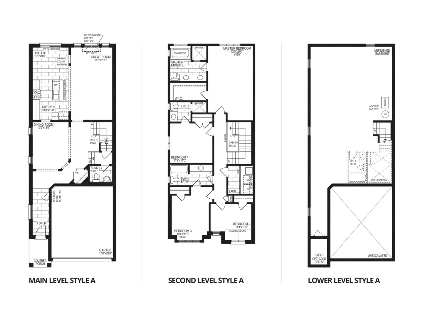The Mahogany Style A At Pine River In Niagara Falls With Detached 0 60 Counter Circuit Diagram Floorplan For Model