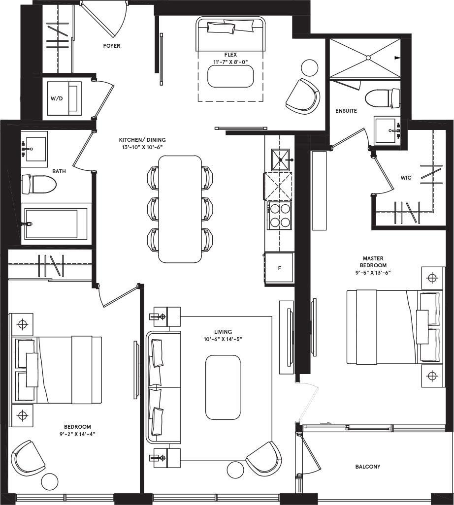 Chicago Podium Floorplan 1