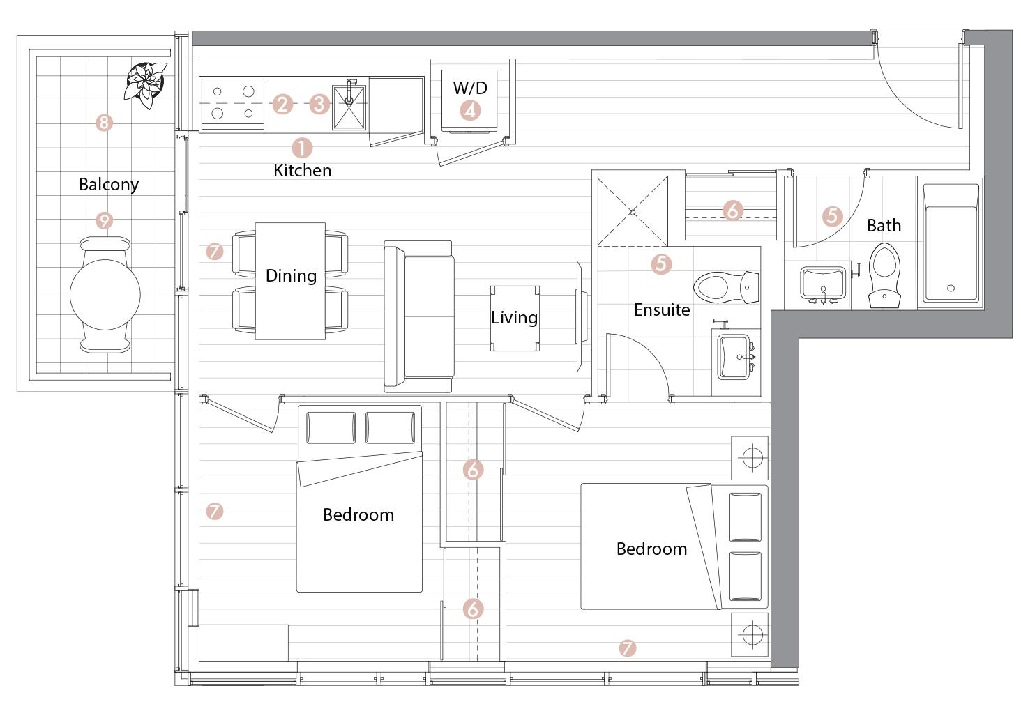 Suite 07 Floorplan 1