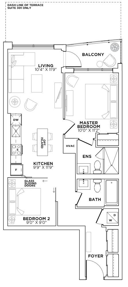 South Beach Floorplan 1