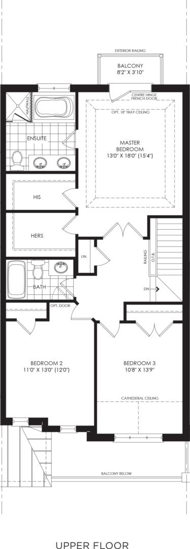 BLOCK 14, ELEV. B1 REV, UNIT 4 Floorplan 3