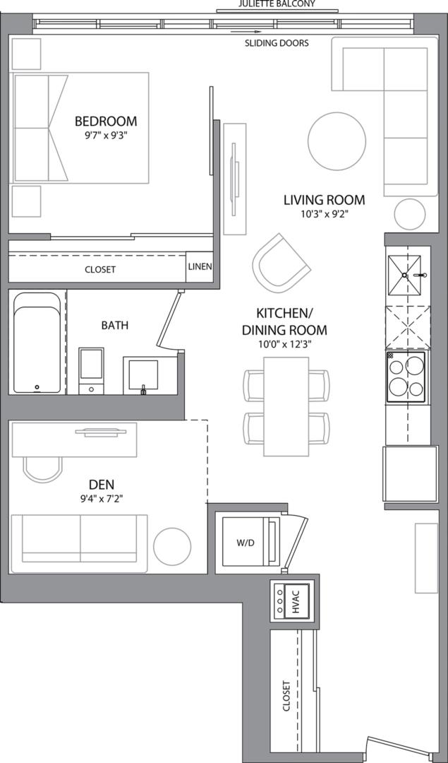 Suite 203 Floorplan 1