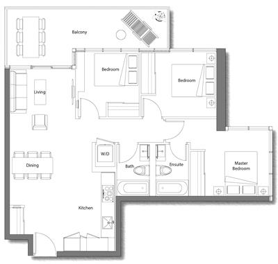 Upper House Suite 08 Floorplan 1