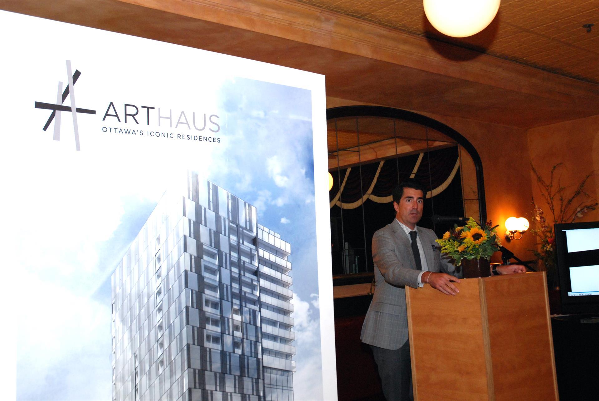 DevMcGill reveals Arthaus branding for new landmark tower in Ottawa Image