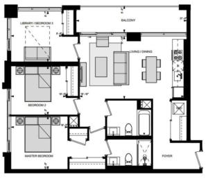 Suite M3 Floorplan 1