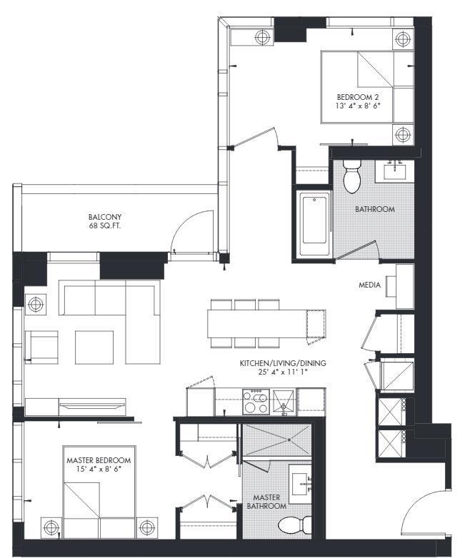 Yorkville 41 Floorplan 1