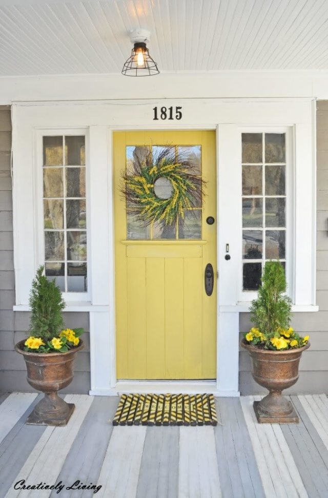 Paint your front door a friendly spring colour