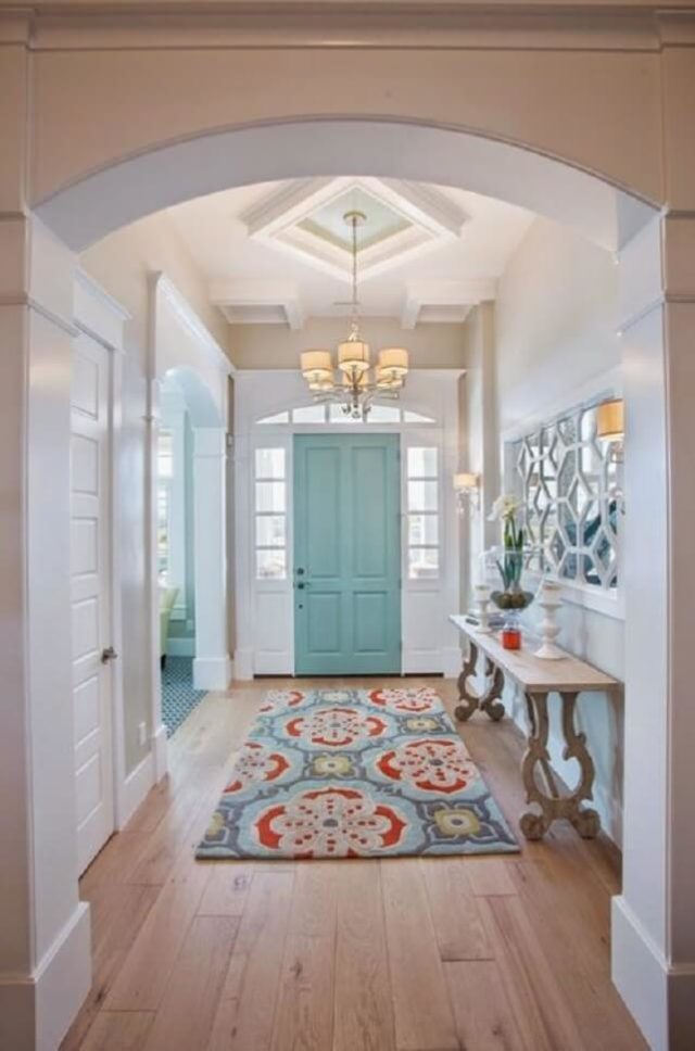Add a rug to your foyer