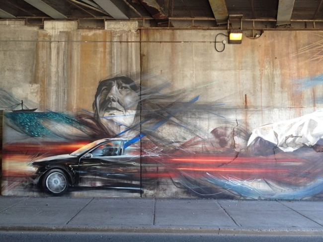 Lilie Zendel on Toronto Street Art Image