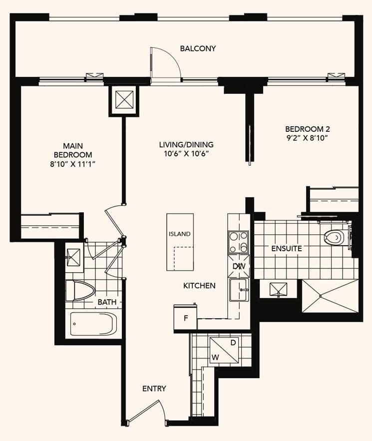 The Burbank Floorplan 1