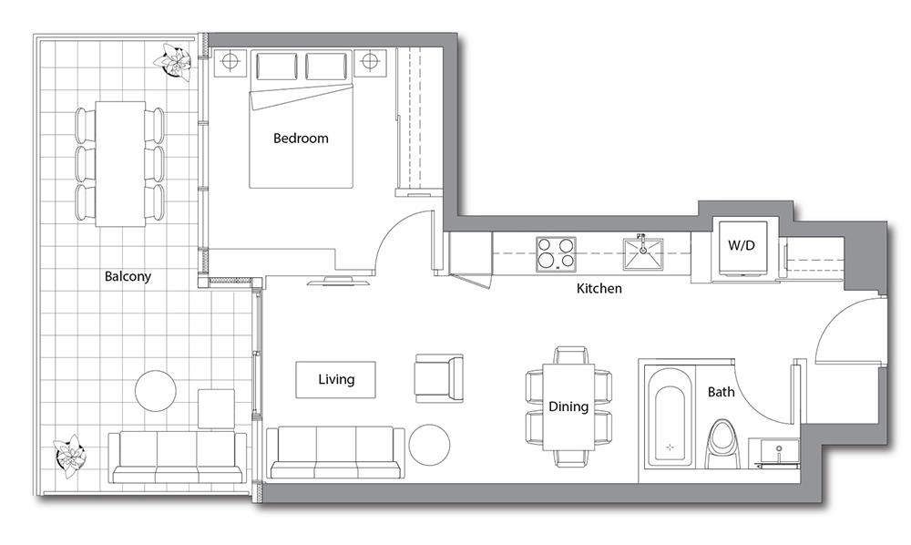 East Tower 05 Floorplan 1