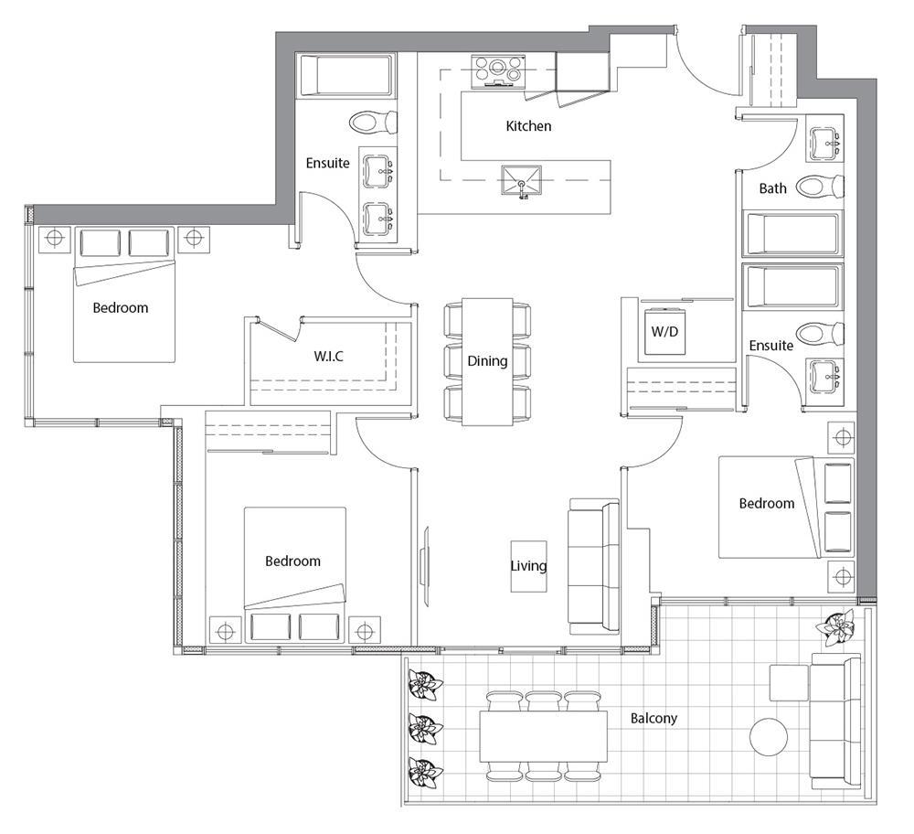 East Tower Upper 03 Floorplan 1