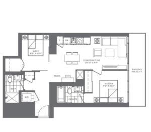 2B-V Floorplan 1