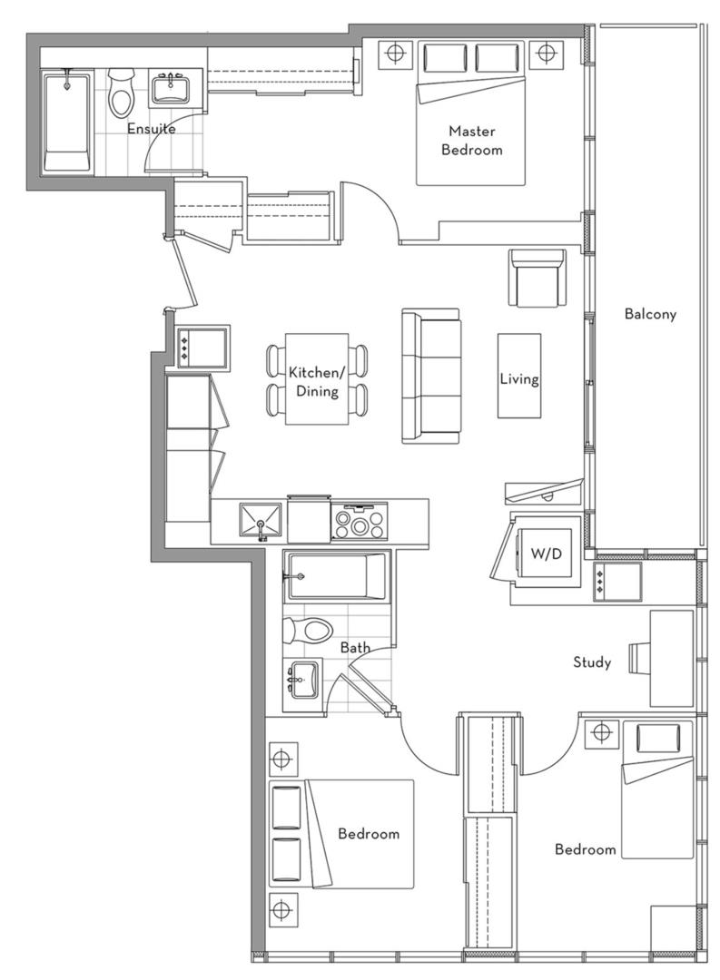 The 360 Collection - 02A Floorplan 1