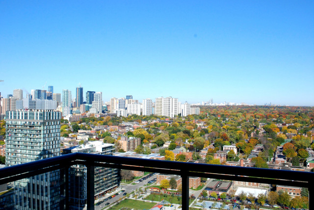 View of Toronto from Daniels' One Park Place