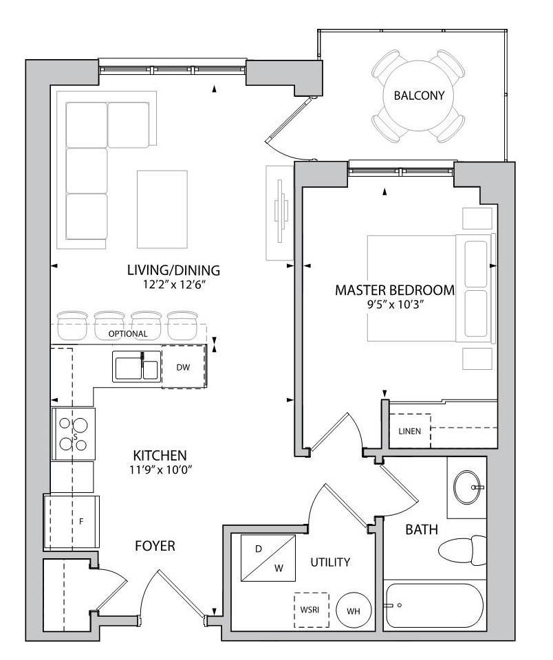 The Hutton Floorplan 1