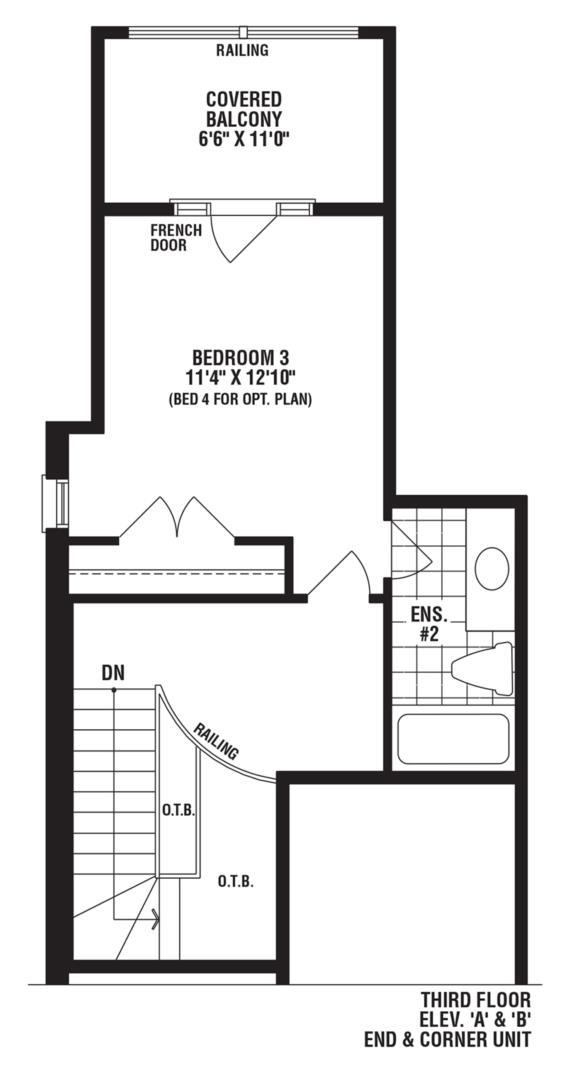 Turquoise Corner Unit Floorplan 3