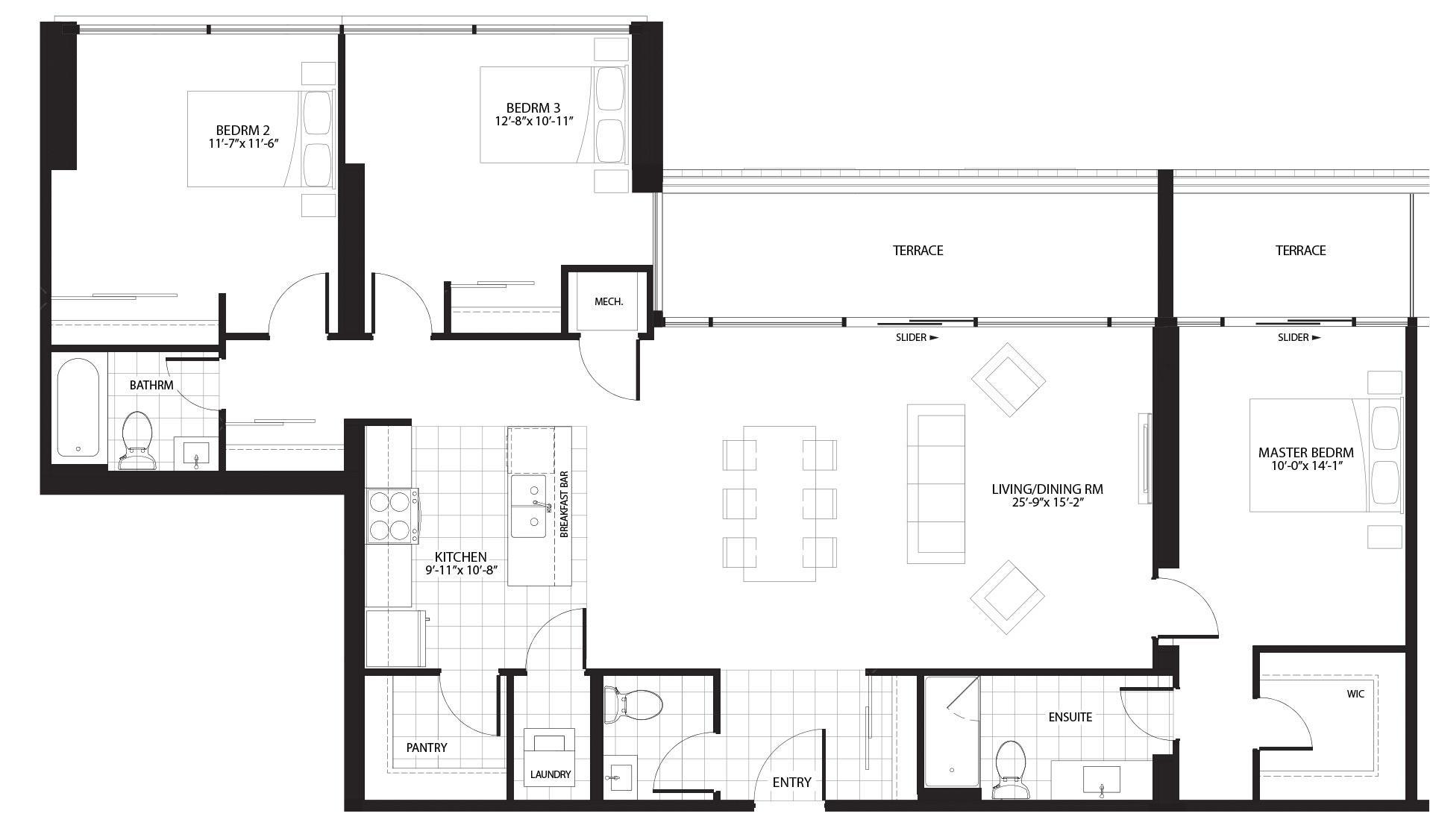 King Floorplan 1