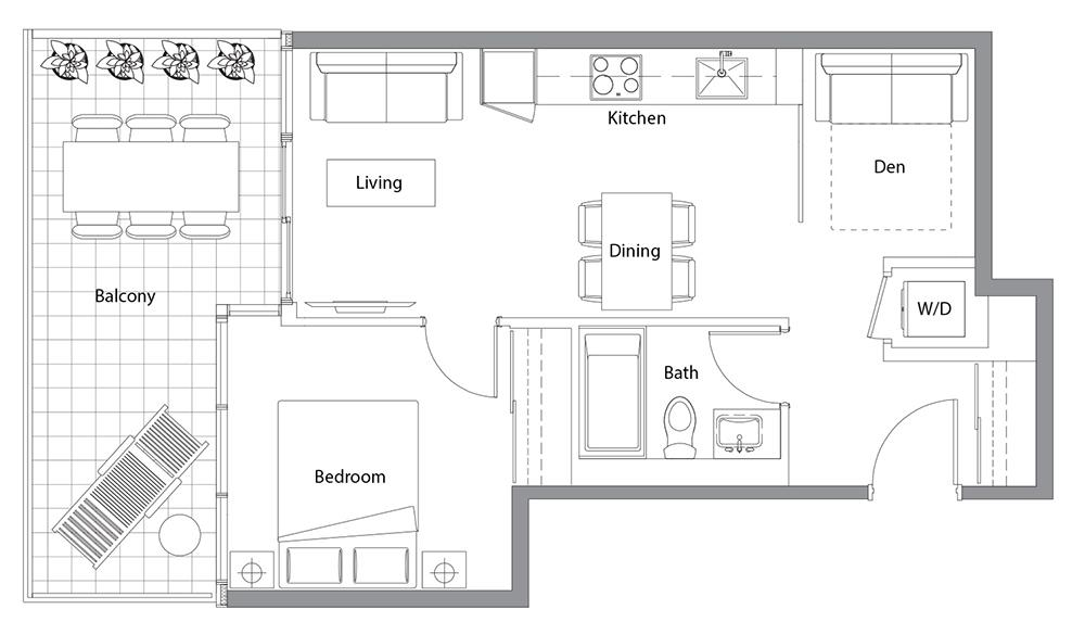 West Tower 07 Floorplan 1