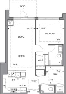 Building B - Garden Suites - 1B+DP