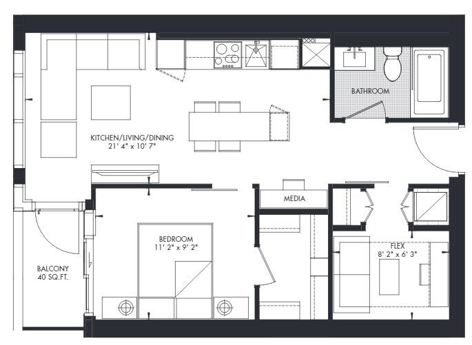 Yorkville 25 Floorplan 1