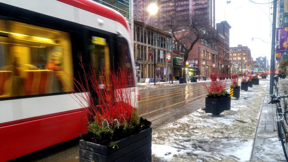 19 new curb lane public spaces planned for the King Street Pilot Image