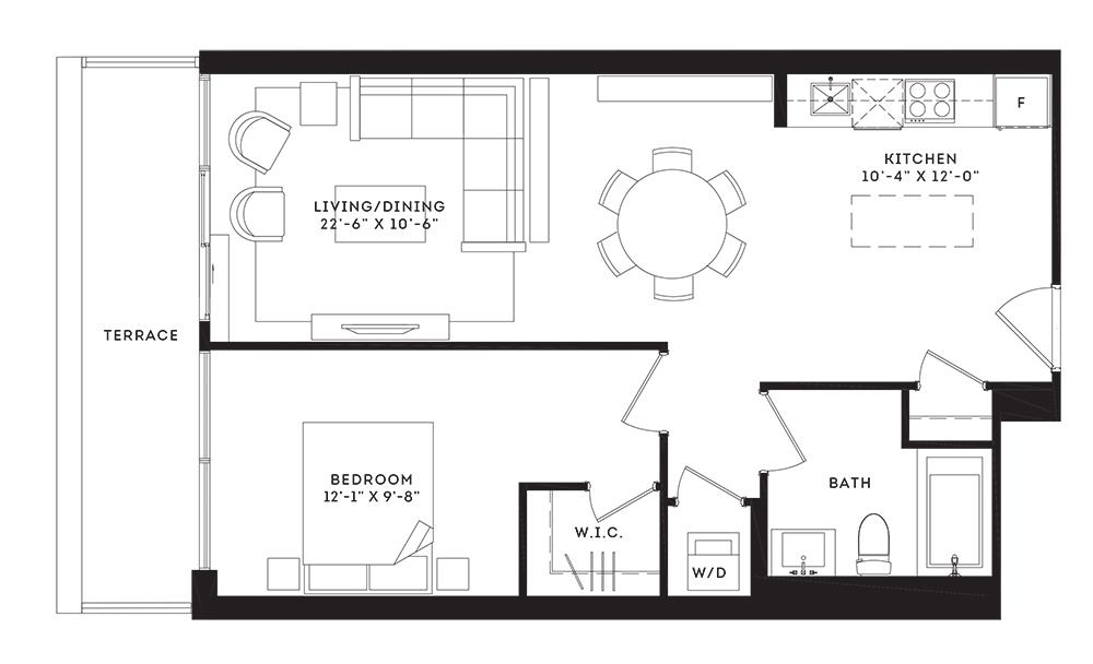 The Broadway Floorplan 1