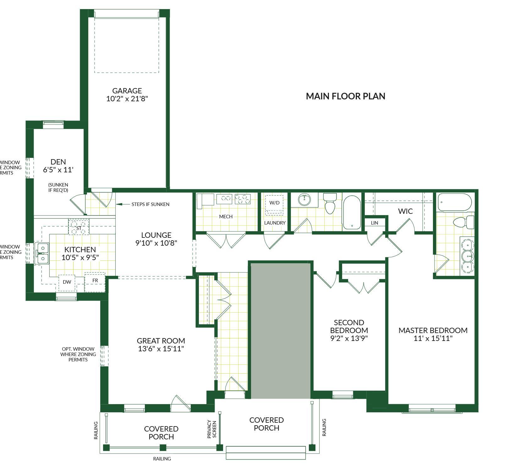 The Notting Hill II B, Building G Floorplan 1