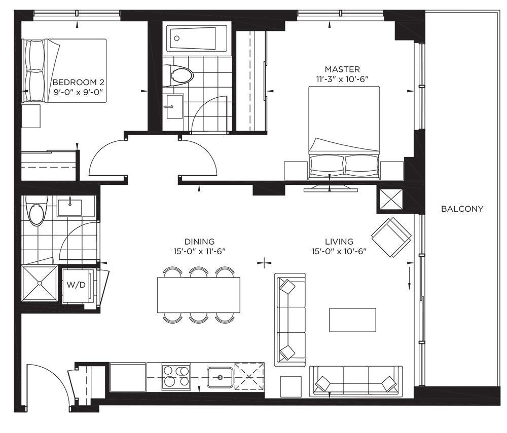 Garden Collection - Fitzgerald Floorplan 1