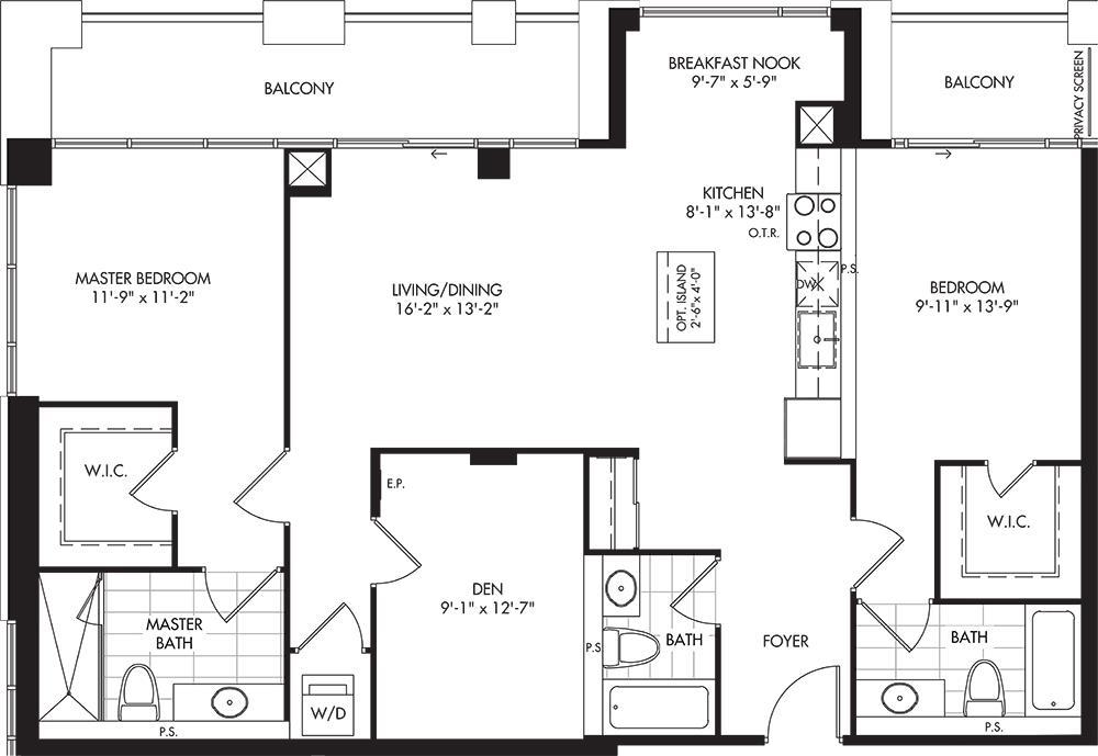 E (BF) Floorplan 1