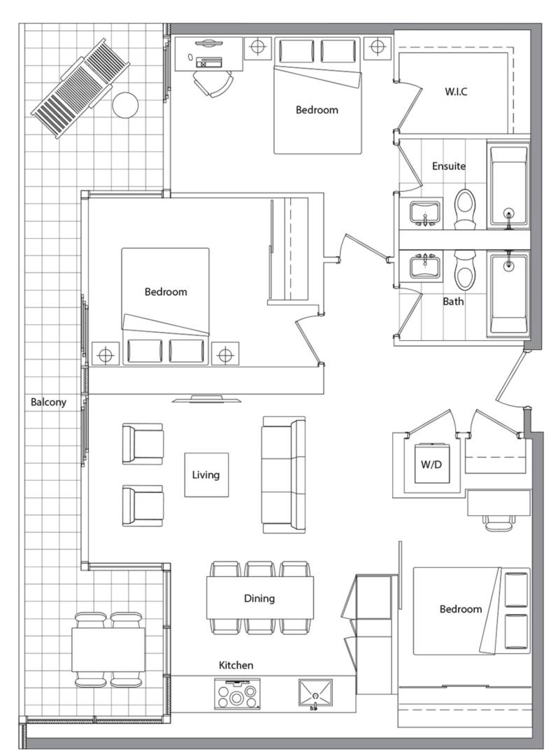 Upper (West Tower) 09 Floorplan 1