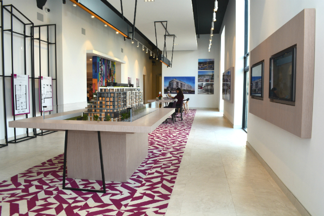 A sneak peek of the Canvas Condominium presentation centre and model suite Image