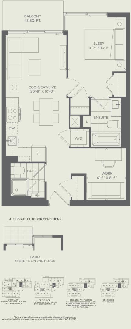 Suite 1D Floorplan 1