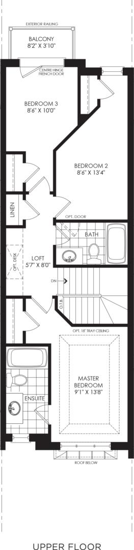BLOCK 19, ELEV. A3 REV, UNIT 2 Floorplan 3
