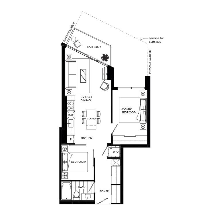 Buffet 690 Floorplan 1