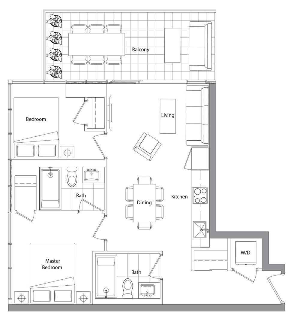 Lower Typical (West Tower) 03 Floorplan 1