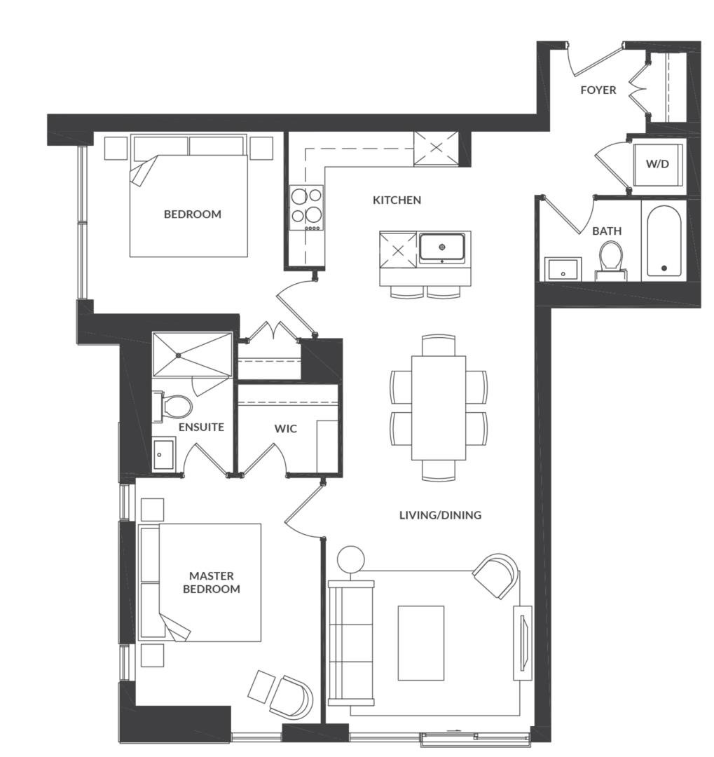Suite 308/408 Floorplan 1