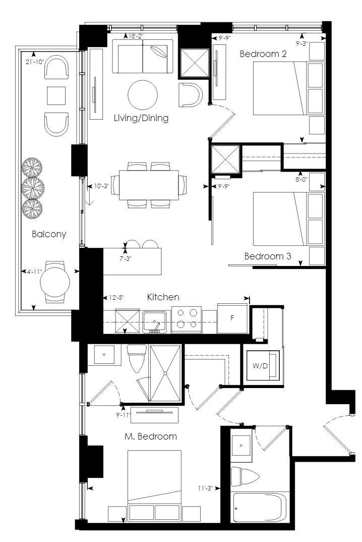 Tower 08 Floorplan 1