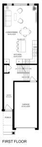 End Unit 2 Bedroom Floorplan 1