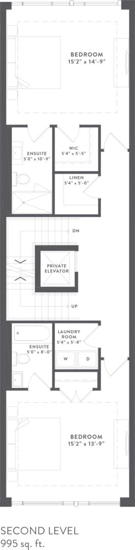 Townhome Collection A Floorplan 3