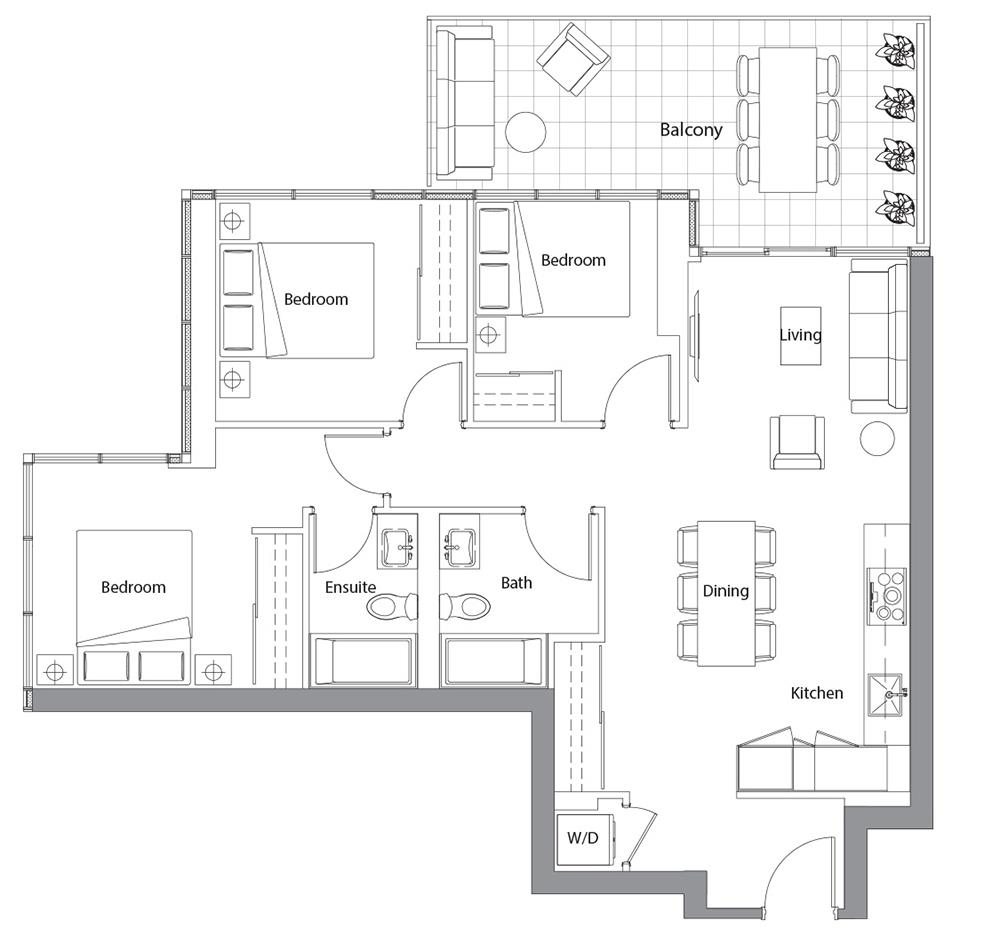 East Tower Upper 07 Floorplan 1