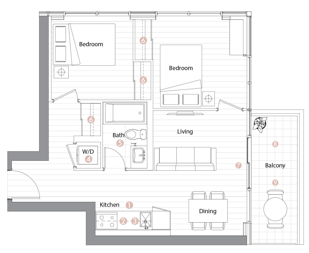 Suite 01 Floorplan 1
