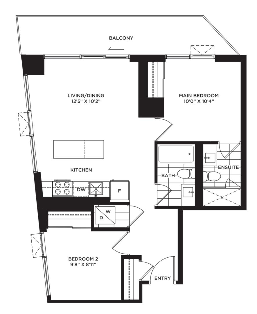 The Shoreline Floorplan 1