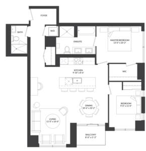 Suite 02 Floorplan 1